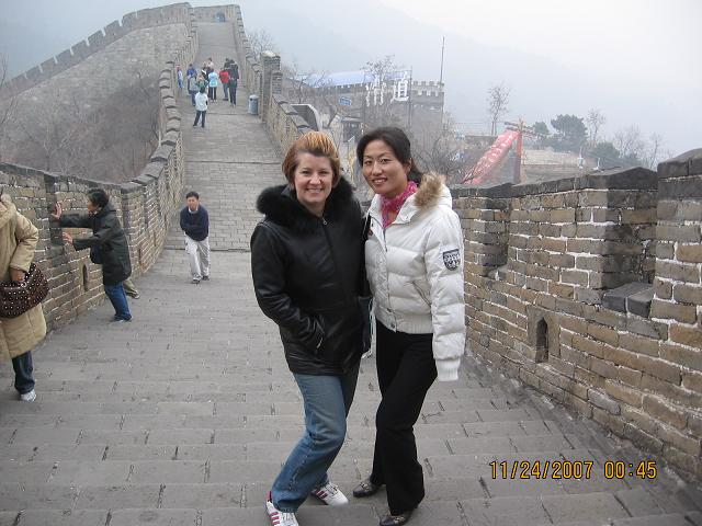 Angela and Kelly at the Great Wall in 2006
